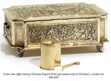Chinese Export Silver 18th century casket