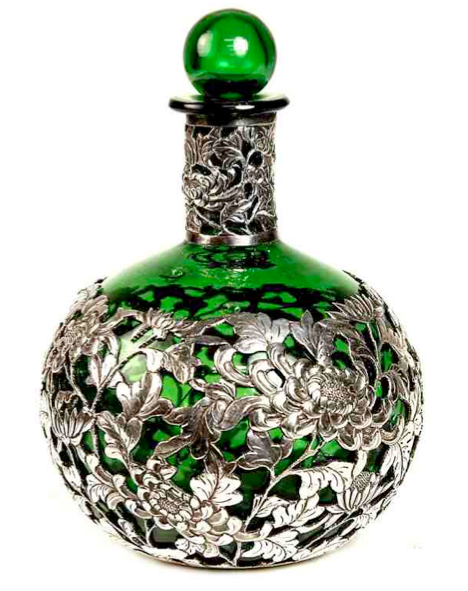 Green chrysanthemum bottle