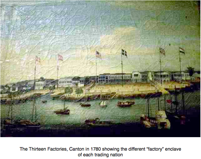 The Thirteen Factories, Canton, 1780