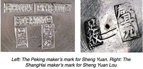 Sheng Yuan Chinese Export Silver maker's marks