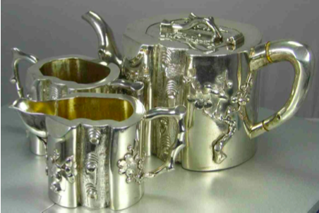 Sing Fat Chinese Export Silver 19th century tea set