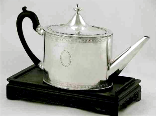 Early 19th century Chinese Export Silver teapot by Sun Shing