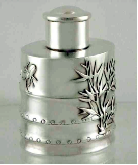 Wang Hing Chinese Export Silver late 19th century tea canister