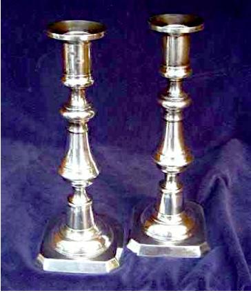 Luen Hing Chinese Export Silver candlesticks