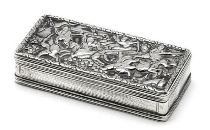 Chinese Export Silver Cutshing Snuff Box