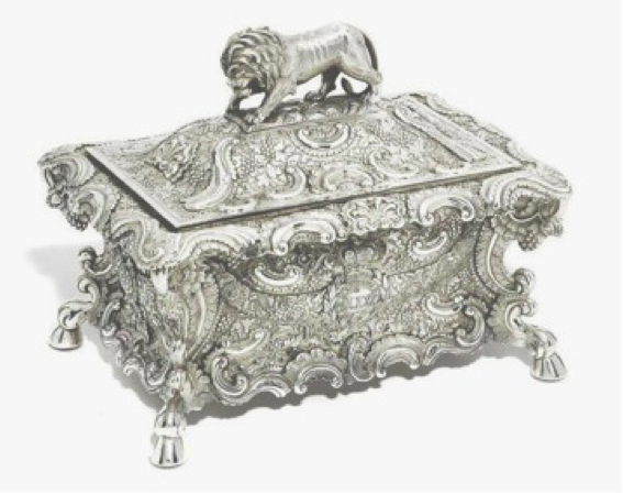 Chinese Export Silver Khecheong Box