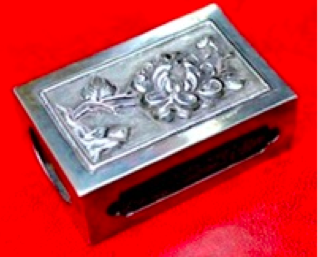 Chinese Export Silver Yi Tai Matchbox Slip Cover