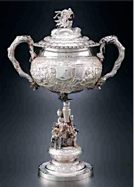 Chinese Export Silver standing cup by MLW/Sheng Chang circa 1890