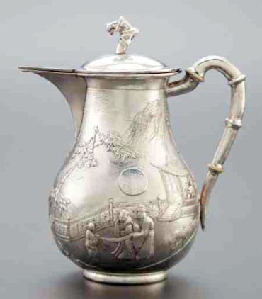 CHINESE EXPORT SILVER Tuck Chang Coffee Pot
