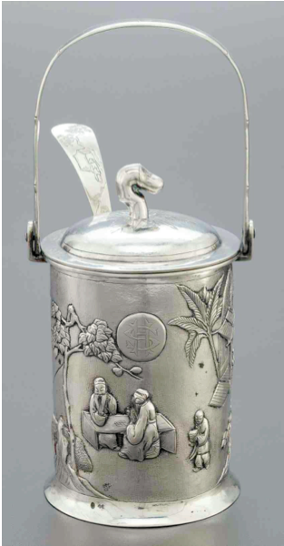 Chinese Export Silver Tuck Chang Conserve Pot