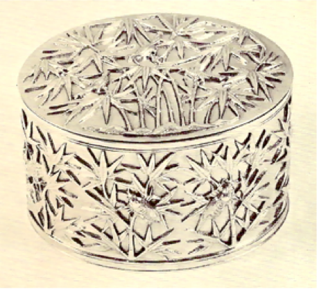 Chinese Export Silver Wang Hing Oval Tiffany Box