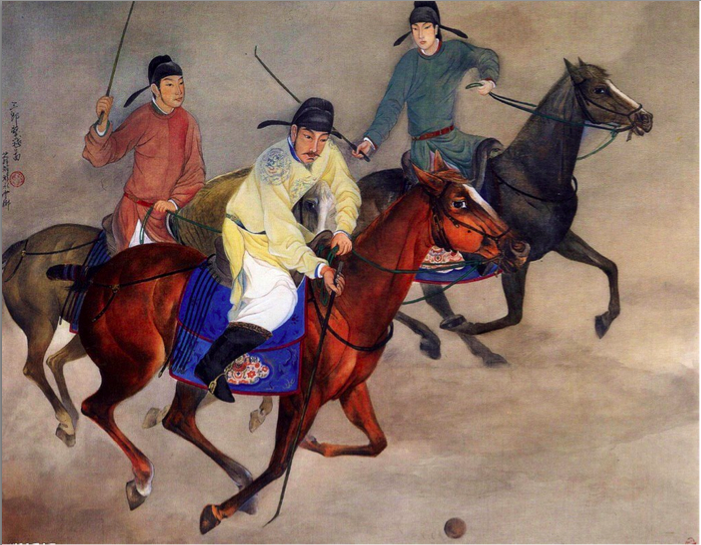 Chinese Export Silver: Han Dynasty Polo Playing