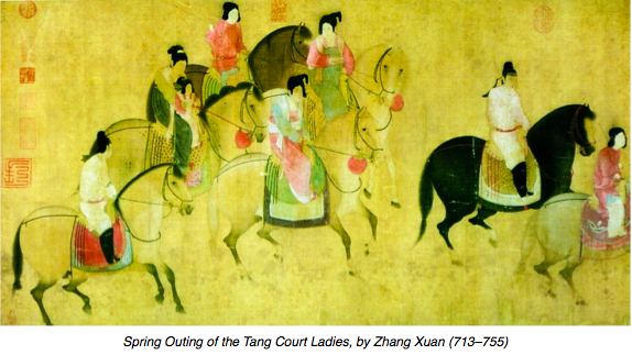 Tang Court Ladies out riding