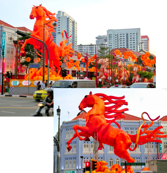 #ChineseExportSilver: Year of the Horse Decorations in Singapore's Chinatown