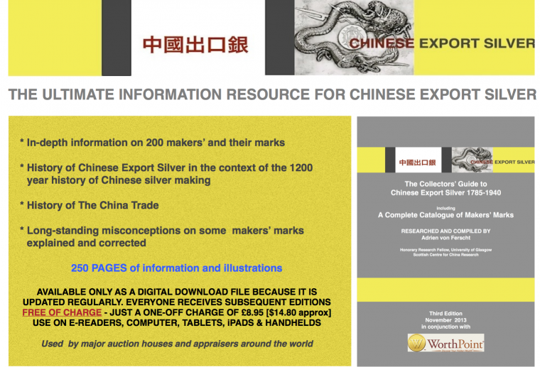 Chinese Export Silver Makers' Marks Catalogue