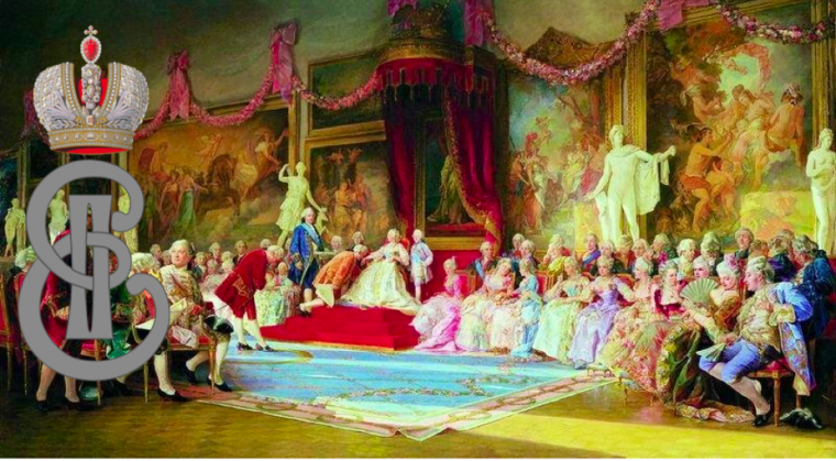 Catherine the Great at the Imperial Academy of Art 1765