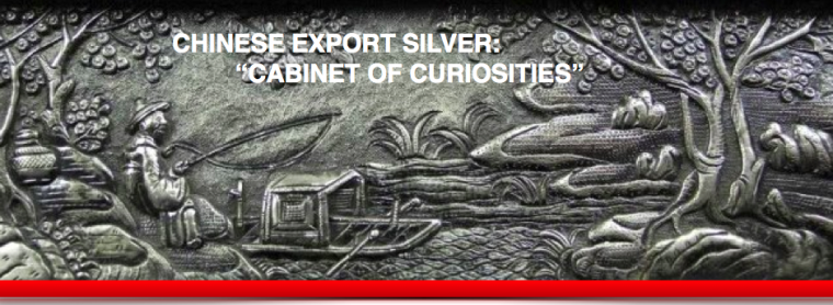 Chinese Export Silver Cabinet of Curiosities Article