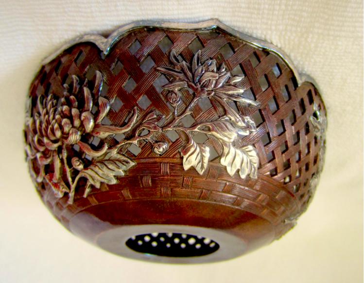 Chinese Export Silver Wang Hing Bowl cover