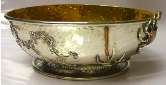 Chinese Export Silver bowl by Cheong Lam