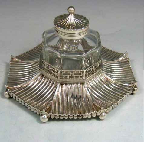 George Lambert Silver Ink Stand