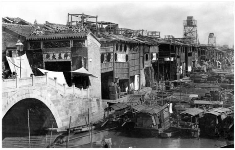 Lizhiwan River Canton 1880's