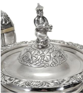 Wong Shing Chinese Export Silver Finial Detail