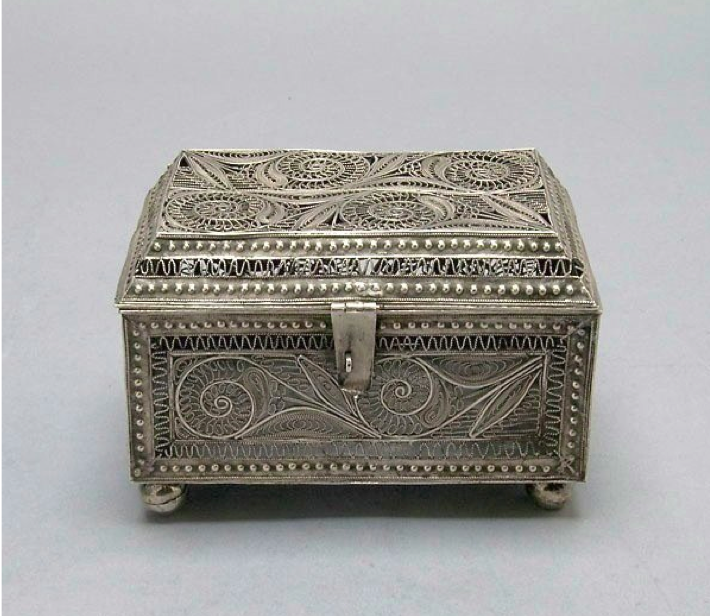 Yu Ying Chinese Export Silver Casket