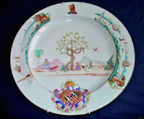 18th Century Chinese Porcelain Armorial Plate