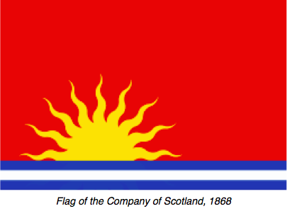 #ChineseExportSilver Company of Scotland Flag 1828