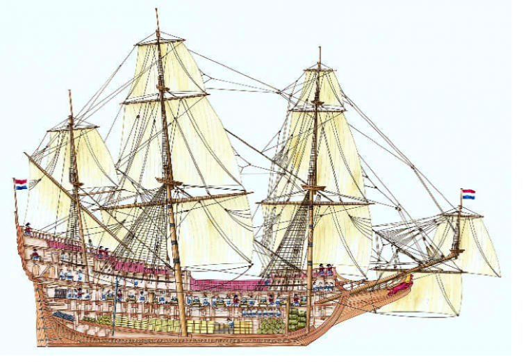 #ChineseExportSilver East Indiaman Ship 18th Century