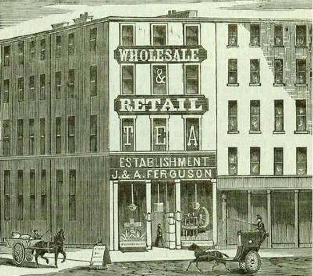 J & A Ferguson Tea Merchant Glasgow 19th Century