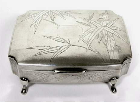 Wing On Chinese Export Silver Jewellery Box circa 1925