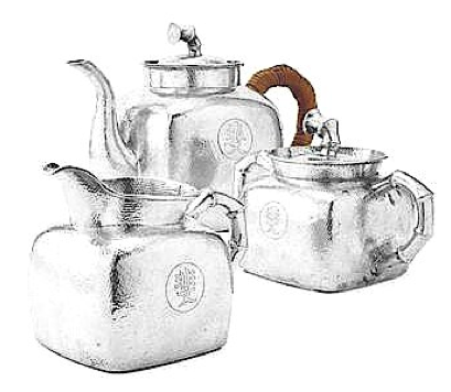 Wing On Chinese Export Silver Tea Set circa 1928