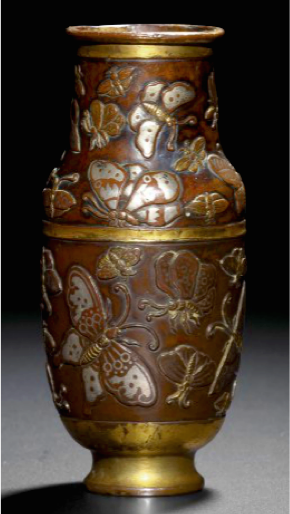 Ming Dynasty Silver Inlay Bronze Vase