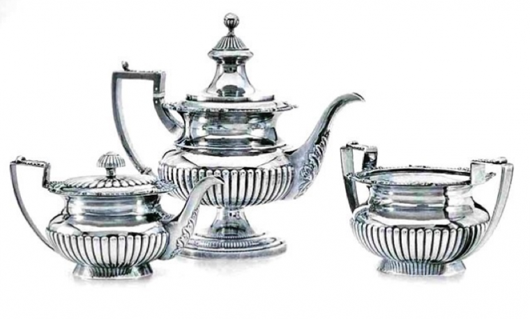 Chinese Export Silver tea set - Cutshing