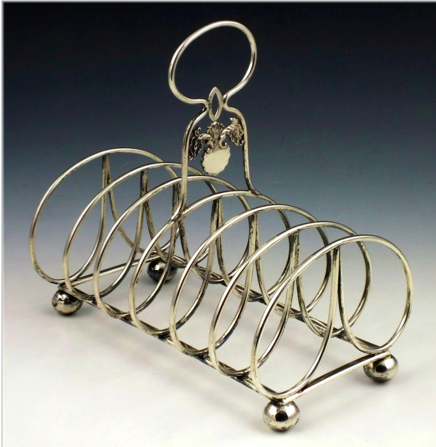 Woshing Chinese Export Silver toast rack
