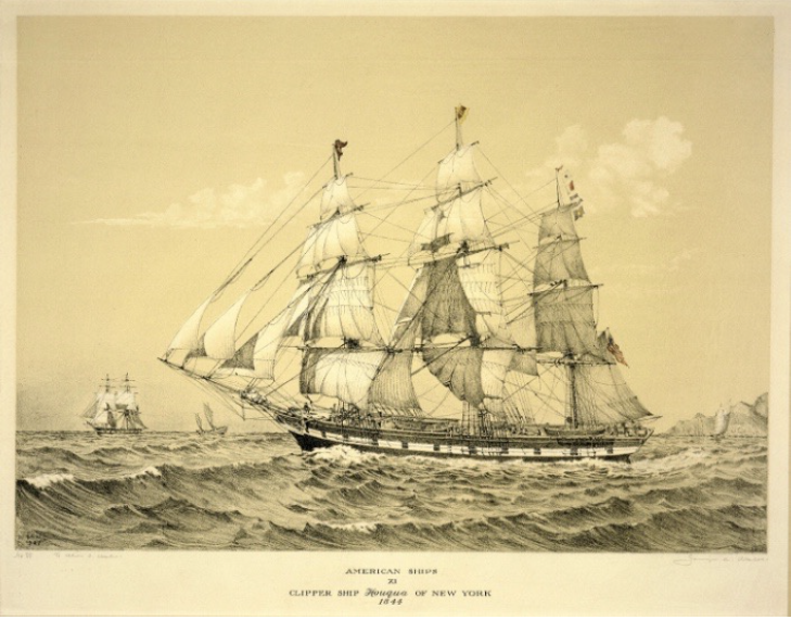 The Clipper Ship Houqua 1844