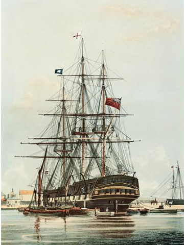 "East Indiaman ""Repulse"" circa 1820"