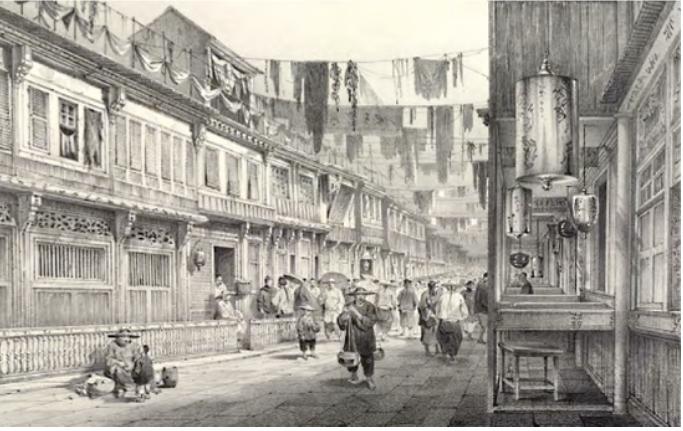 New China Street Canton 1830
