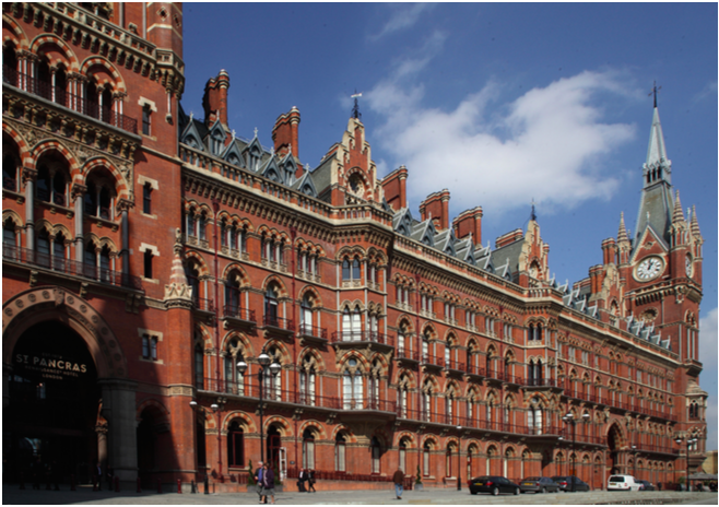 Gilbert Scott's St Pancras Station London