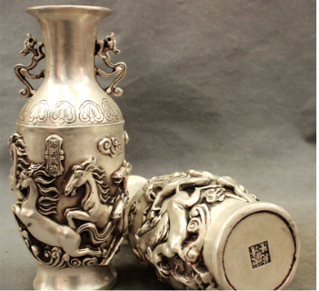 Fake Chinese Silver Vases