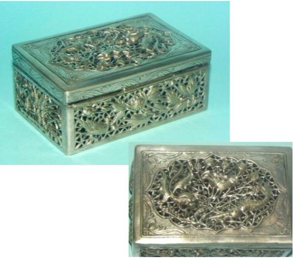 Reticulated Thai Silver Box